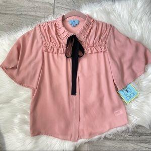 Cece • NWT neck tie blouse